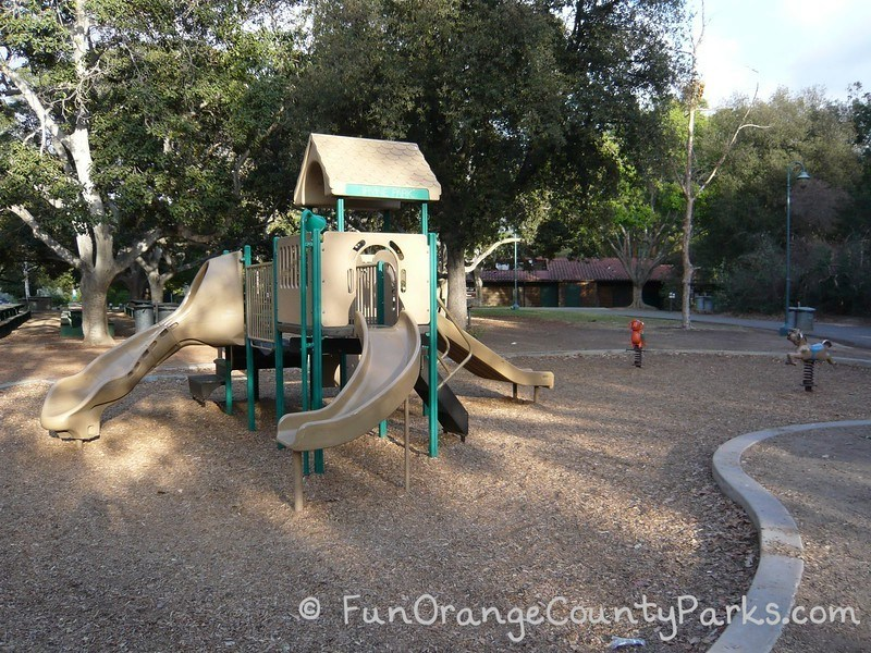 Irvine Regional Park playground near the zoo