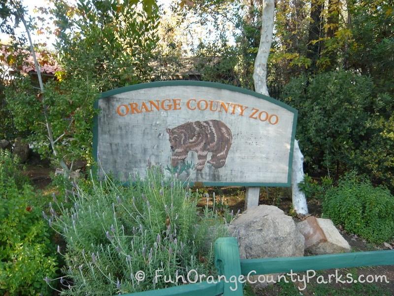 Irvine Regional Park - Orange County Zoo sign