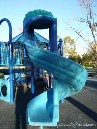 mason regional park irvine - blue twisty slide