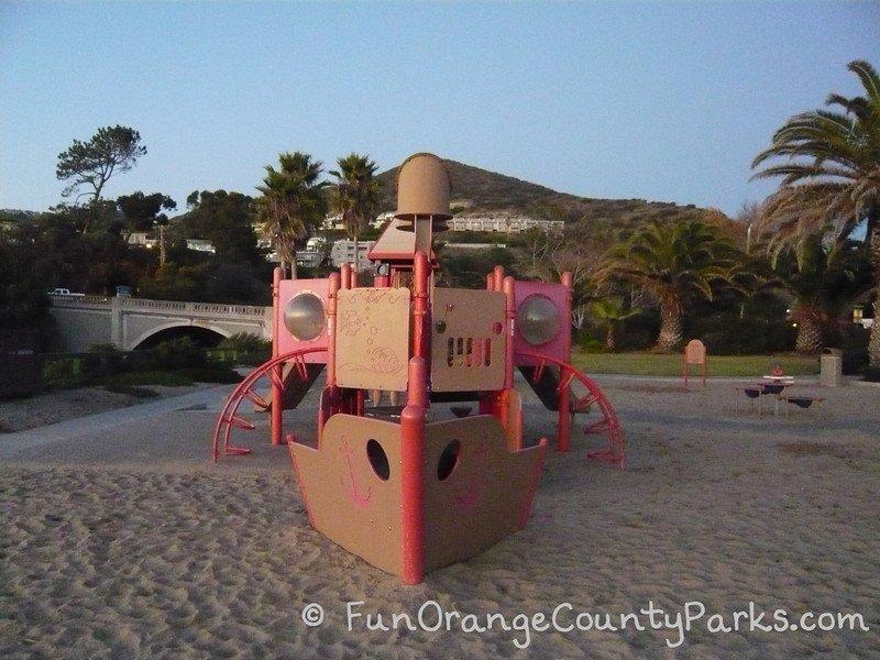 Aliso Beach playground ship in Laguna Beach
