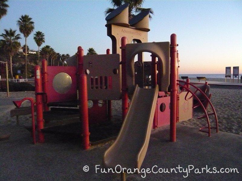 Aliso Beach Park playground slide