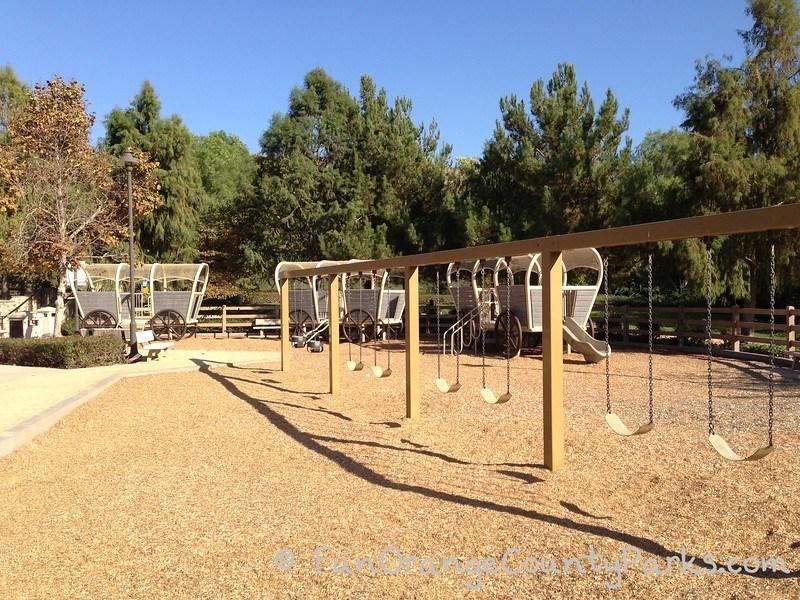 Pioneer Road Park Tustin swings