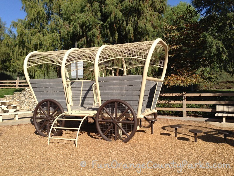 Pioneer Road Park Tustin covered wagon