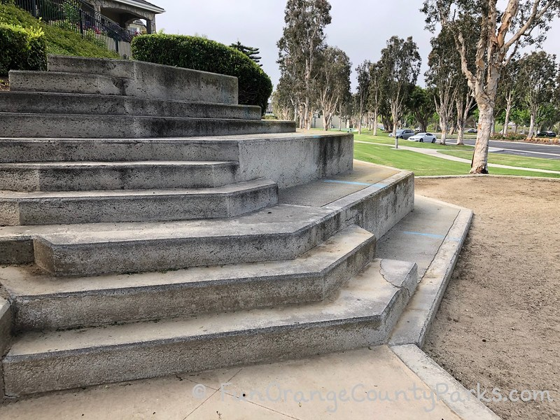 amphitheater style steps for playing