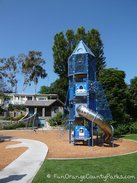 Bluebird Park Laguna Beach rocketship playground