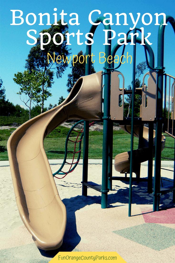 bonita canyon sports park newport beach pin image of a slide