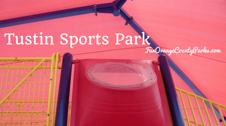 Tustin Sports Park with red shade cover
