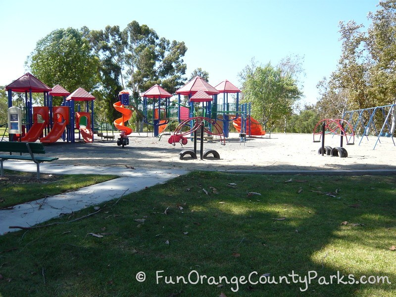 craig regional park fullerton - large playground with teeter totters