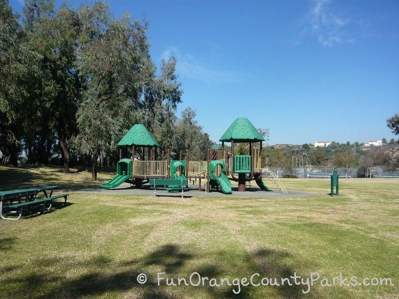 clark regional park brea - playground shaped like treehouse