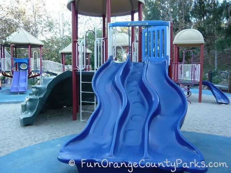 Triple slides at Olympiad Park in Mission Viejo