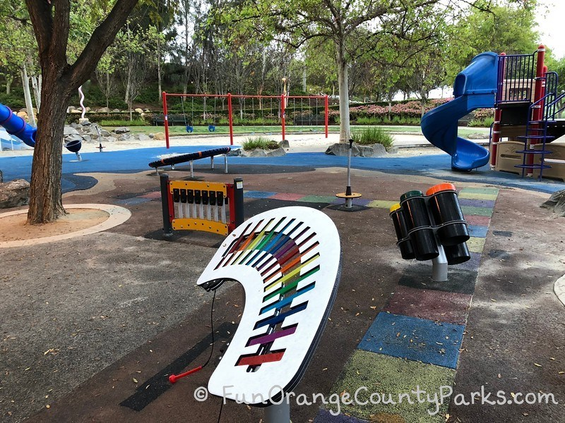 Musical play area at Olympiad Park