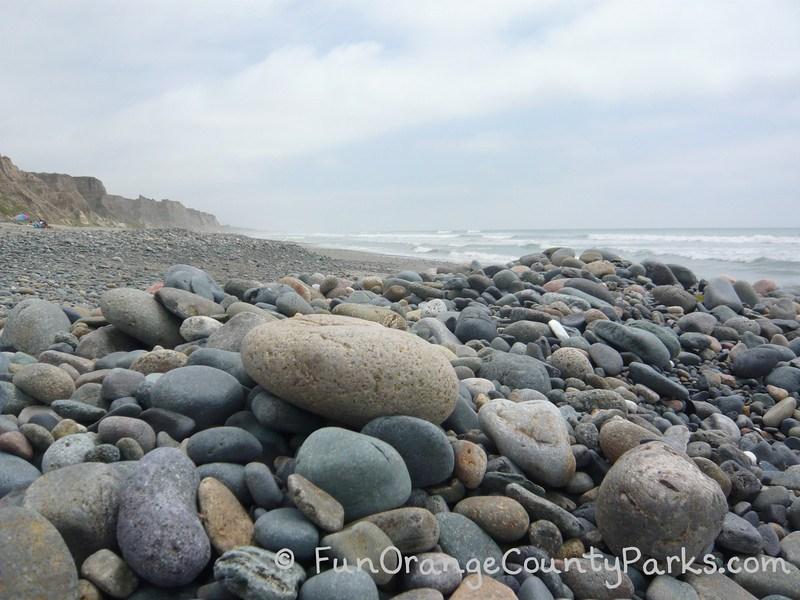 Beach rocks at San Onofre State Beach