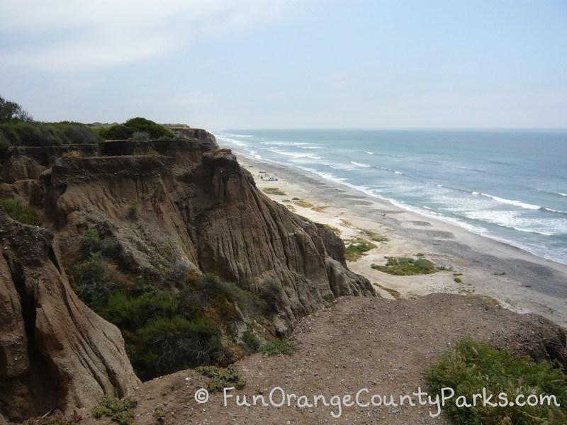 San Onofre State Beach bluffs and beach ocean view
