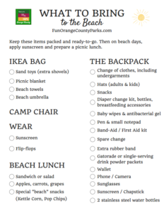 What to Bring to the Beach PDF Checklist
