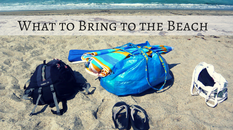 what to bring to the beach