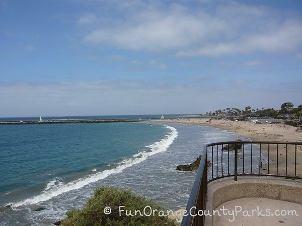 View of Corona del Mar State Beach from Inspiration Point lookout