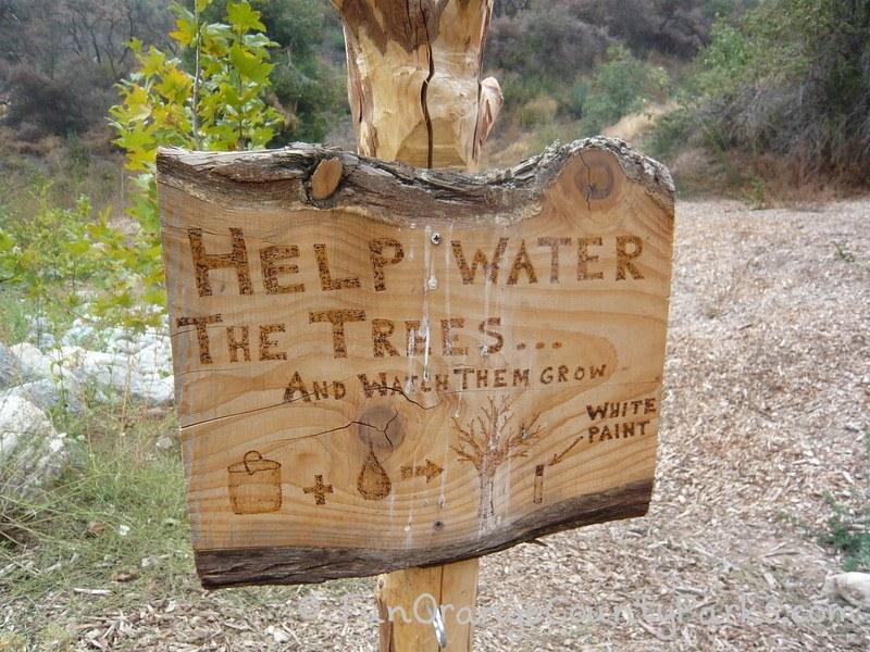 oak glen preserve wildlands conservancy nature trail sign