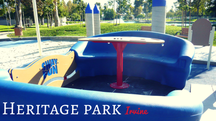 Heritage Park in Irvine with Water Play Fountains