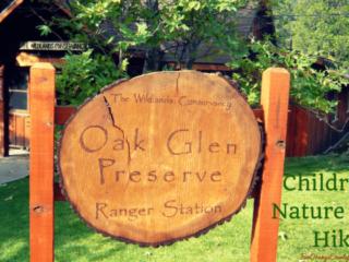 oak glen preserve children nature trail hike