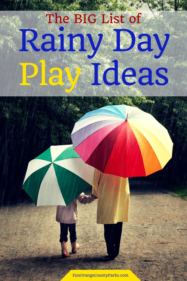 rainy day play ideas pin