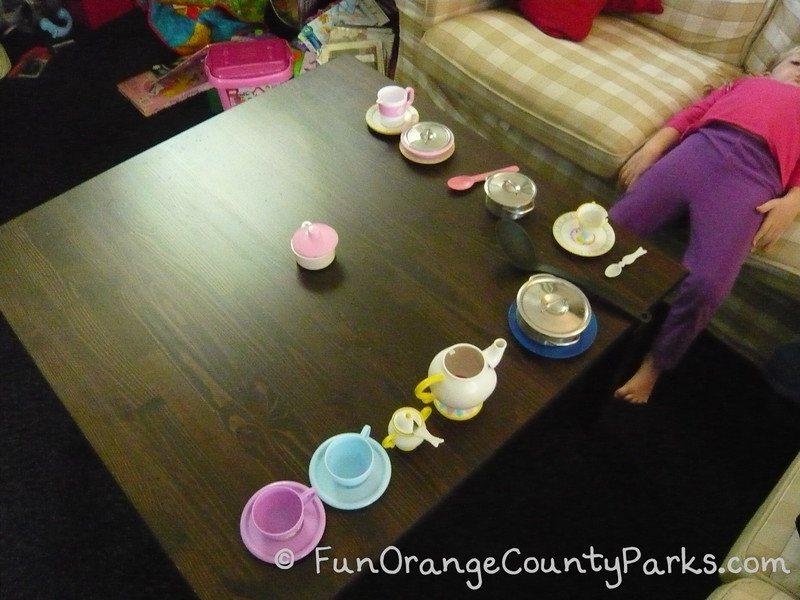 rainy day play ideas - tea party
