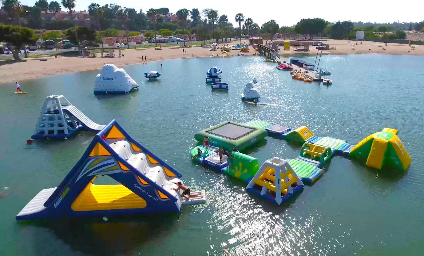 newport dunes inflatable water park