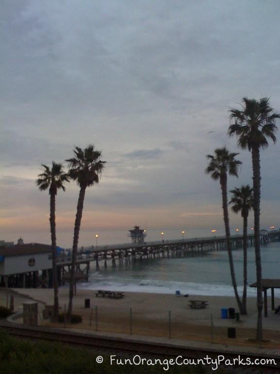 san clemente beach pier at sunrise