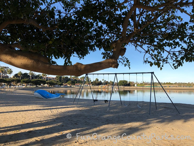 newport dunes swingset and blue whale