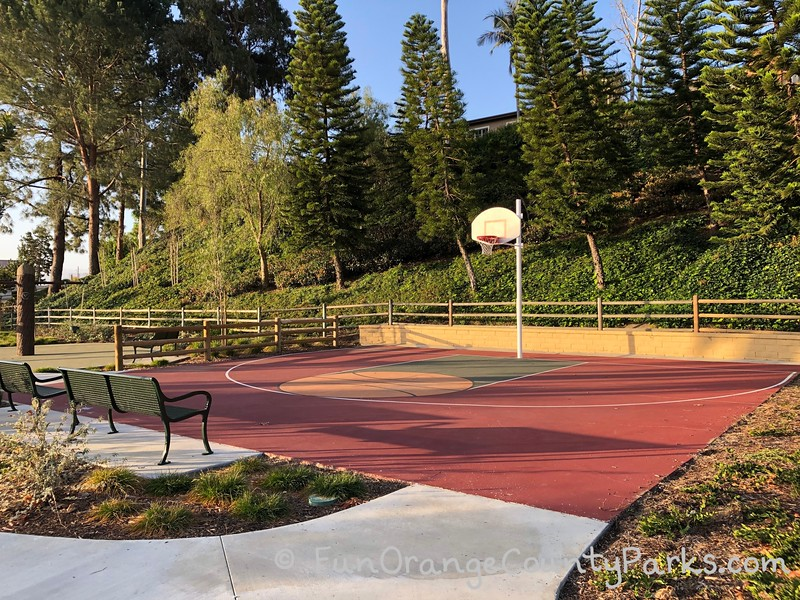 half court basketball court at christopher park in mission viejo
