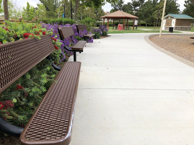 picnic shelter and benches