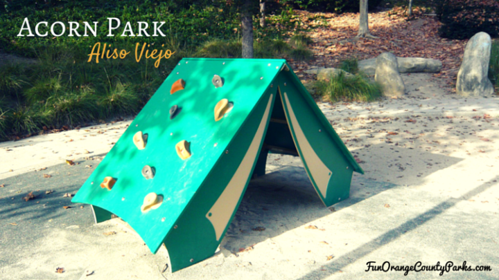 Acorn Park in Aliso Viejo: Sunken Play Yard Encourages Climbers