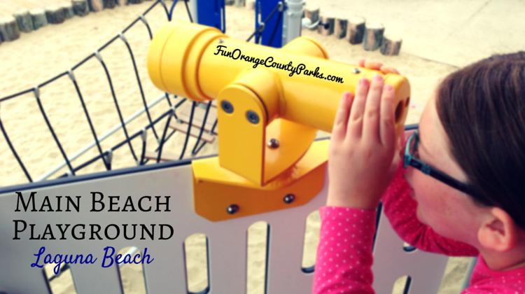 Main Beach playground Laguna Beach photo of girl with telescope