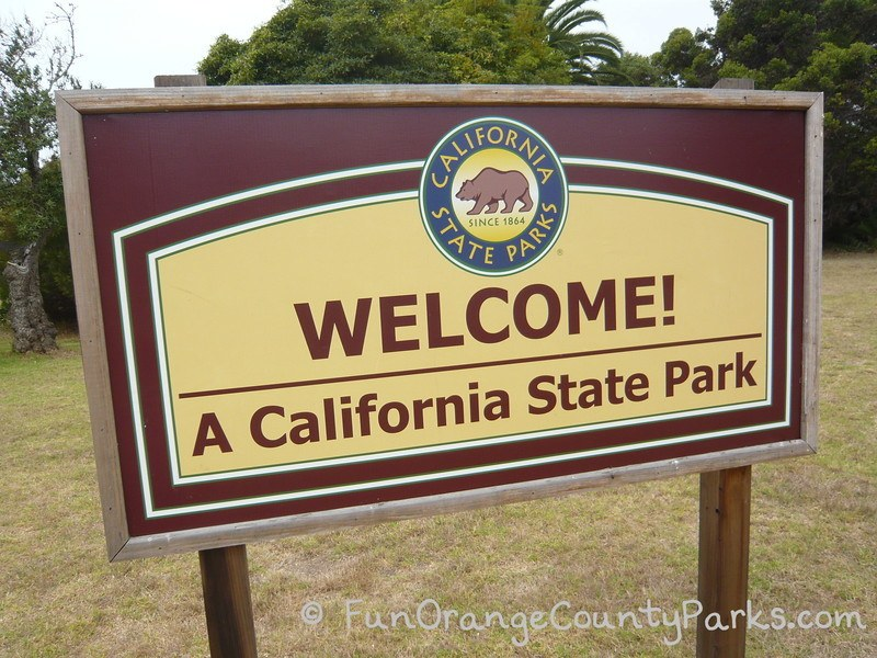 California State Park welcome sign