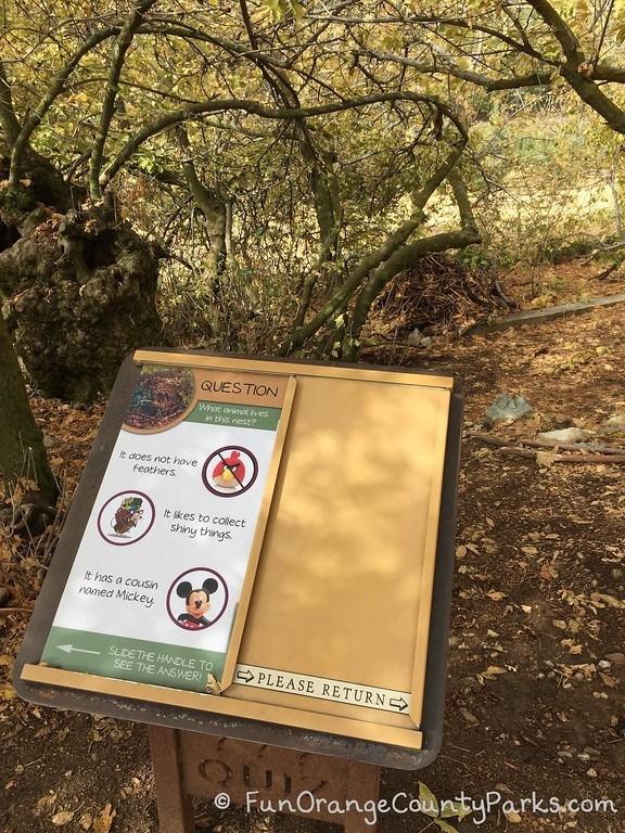 montane botanic garden slide sign