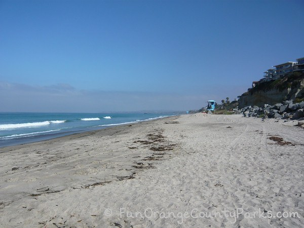 Calafia Beach at San Clemente State Beach - view to the north
