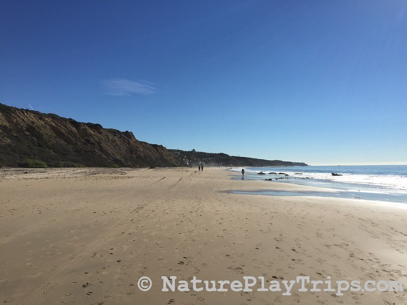 Crystal Cove Historic District via Los Trancos - wide beach with bluffs and ocean