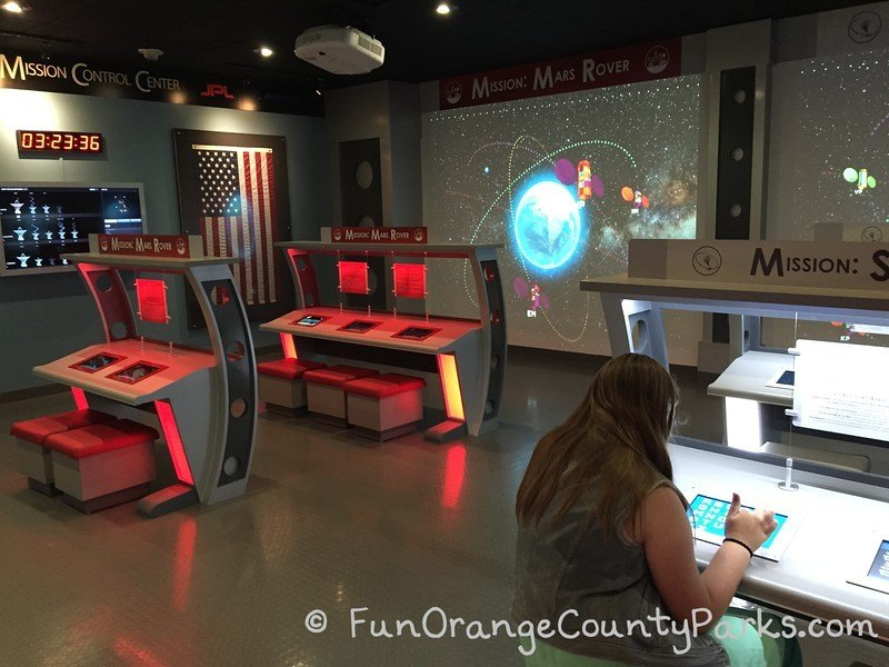 mission control center at discovery cube oc