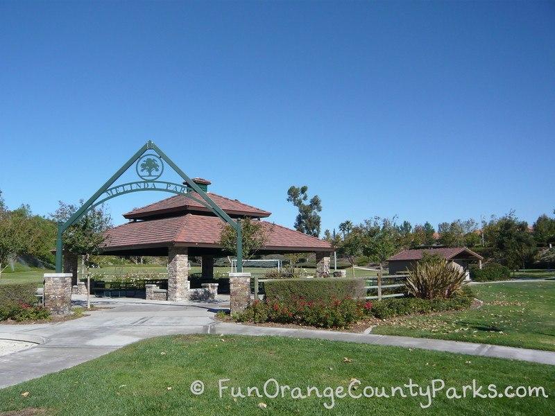 Picnic area at Melinda Park in Mission Viejo
