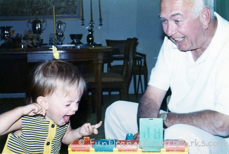 places for babies to play - baby with grandpa