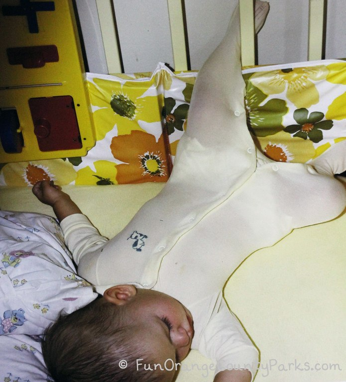 places for babies to play - sleeping baby