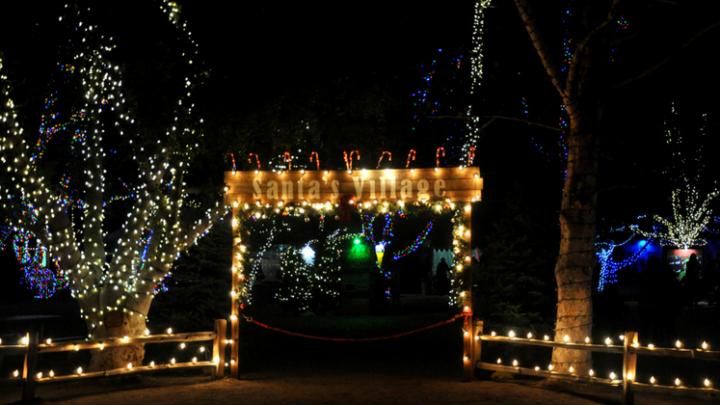 Christmas Train at Irvine Park Railroad