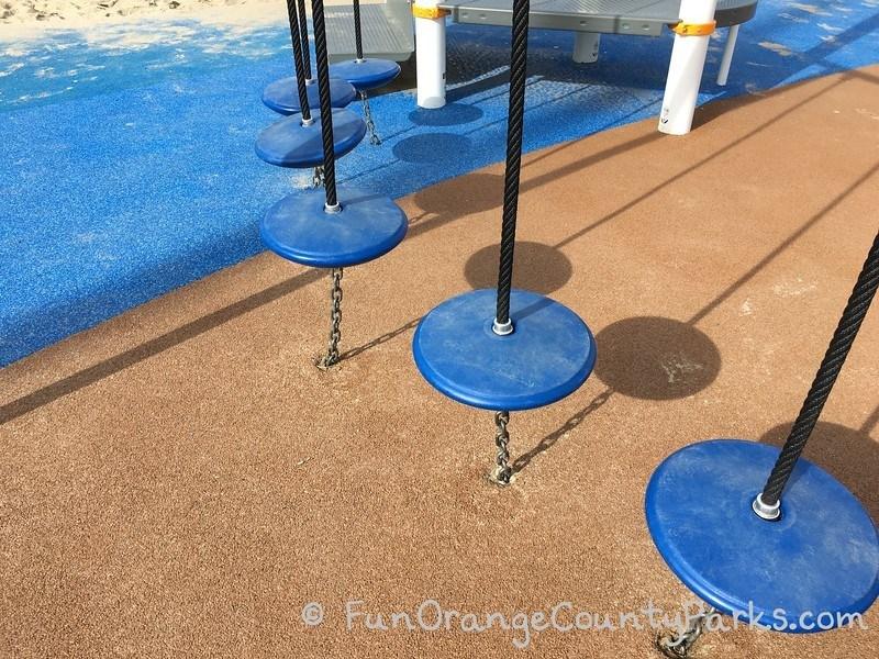 hanging pedestals on playground