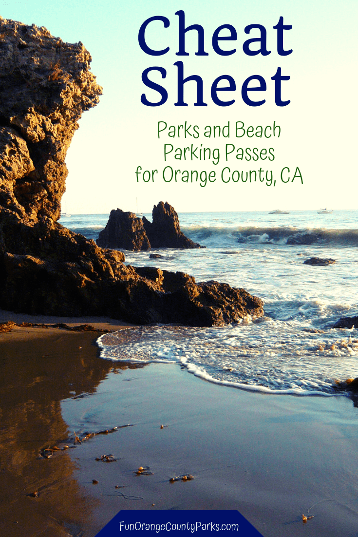 cheat sheet parks and beaches parking passes orange county