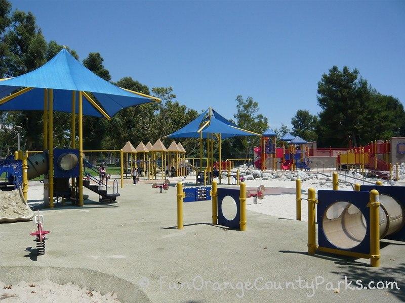 northwood community park irvine - tunnels at playground