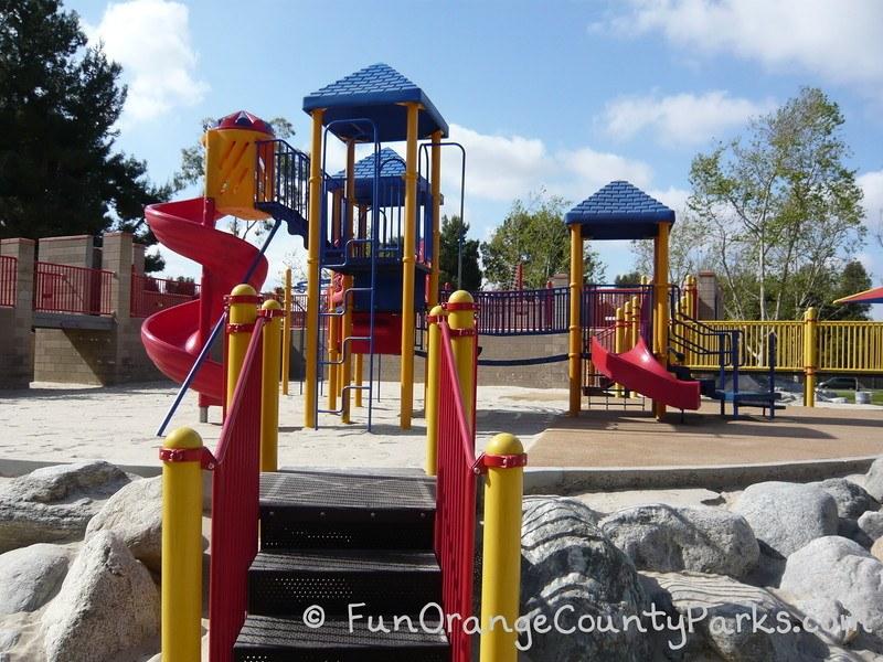 northwood community park irvine twisty slide and toddler slide