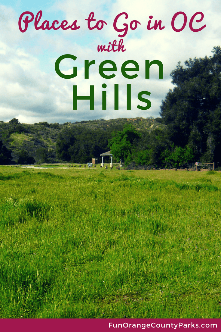 Places to Go in OC with Green Hills pin