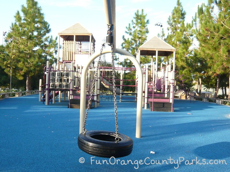 Tire swing at Dino Park in Laguna Hills