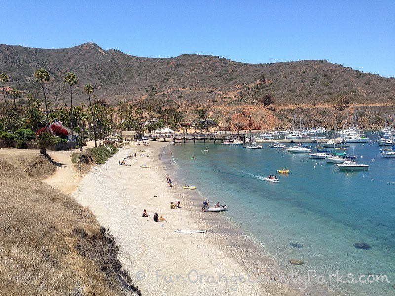 Two Harbors at Catalina Island - Isthmus Cove beach view