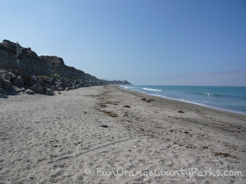 waves and beach area in San Clemente