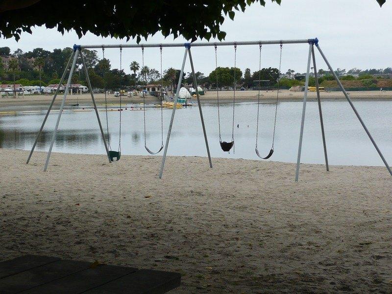 swings at newport dunes